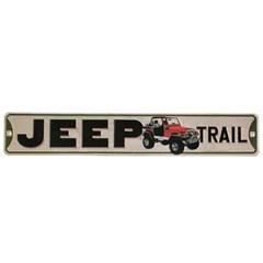 Jeep Trail Metal Street Sign