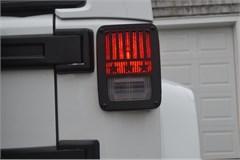 Jeep Tweaks Stars & Stripes Design Tail Light Guards for Jeep Wrangler 2/4 door  (2007-2018) - Black
