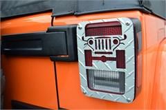 Jeep Tweaks Tail Light Guards - 2/4 Door JK, Silver 2007-2017