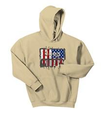 Jeep Weathered Flag Hooded Sweatshirt