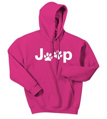 Jeep White Dog Paw Hooded Sweatshirt (3 Colors)