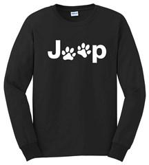 Jeep White Dog Paw Long Sleeve T-Shirt