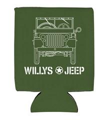 Willys Blueprint Style Neoprene Koozie