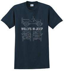 Willys Blueprint  Men's T-Shirt