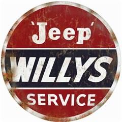 "Jeep Willys Service Nostalgic Round 14"" Sign"