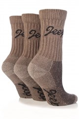 Jeep Women's Luxury Boot Socks (3-pack), Taupe