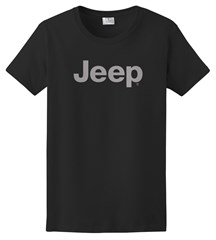 Women's T-Shirt with Light Gray Jeep Logo