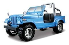 Jeep CJ Blue Diecast Model 1/24