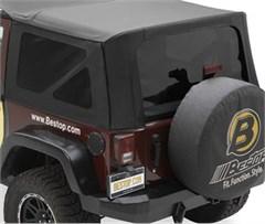 Tinted Window Kit Jeep Wrangler JK 2D 2011-2017 Black Diamond Bestop