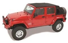 Trektop NX Complete Soft Top Kit Jeep Wrangler 4 door-Black Twill