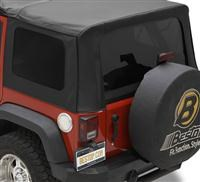 Tinted Window Kit Jeep Wrangler JK 4D 2011-2017 Black Diamond Bestop