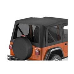 Tinted Window Kit in Black Denim for Jeep TJ (1997-2002)