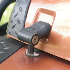 Locking Hood Catch Kit for Jeep Wrangler TJ,LJ (1997-2006) - Black