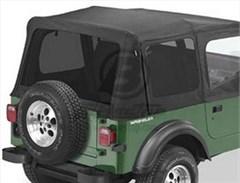 Tinted Window Kit in Black Denim for Jeep Wrangler YJ