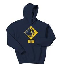 Jeep Xing Hooded Sweatshirt in Navy