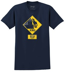 Jeep Xing T-Shirt in Navy