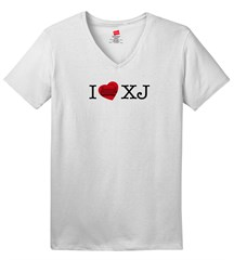 Closeout: XL Only, I LOVE XJ  Women's V-Neck T-Shirt