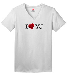 I LOVE YJ  Women's V-Neck T-Shirt