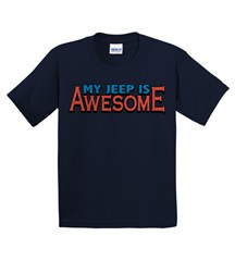 """Closeout - """"My Jeep is Awesome"""" Youth Tee - Navy"""