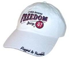 Jeep Freedom 41 Hat  (White)
