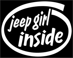 Jeep Girl Inside Window Decal