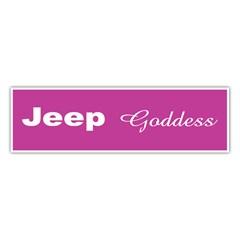 Jeep Goddess Bumper Sticker