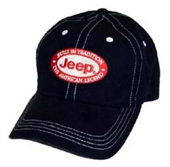 """Jeep Hat """"Built In Tradition, The American Legend"""" (Black)"""