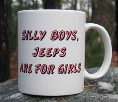 Coffee Mug: Silly Boys, Jeeps are for Girls