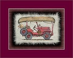 Jeep Print: CJ5 with Canoe on roof