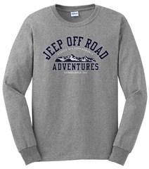 Grey Jeep Long Sleeve Tee -Off Road Adventures