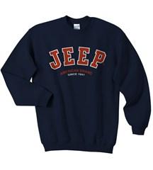 Jeep Sweatshirt: Navy Crewneck - Jeep Logo