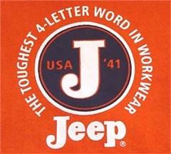 "CLOSEOUT Jeep Sweatshirt -""The Toughest 4-Letter Word"" - Orange"
