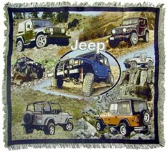 """Discontinued Item - Jeep """"Classic"""" Throw Blanket"""