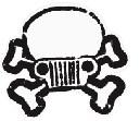 Jeep Skull & Crossbones Decal