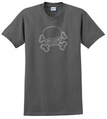 Jeep Skull & Crossbones T-Shirt Charcoal