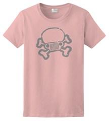 Jeep Skull & Crossbones Women's Tee, Light Pink