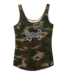 Closeout- Jeep Skull & Crossbones Junior Fit Camo Swing Tank