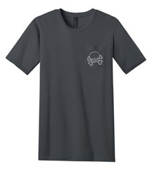 Jeep Skull & Crossbones 100% Ring Spun Cotton Pocket Tee, Charcoal