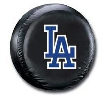 LA Dodgers MLB Tire Cover - Black Vinyl