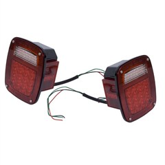 LED Tail Light Set for Jeep CJ, Wrangler YJ, TJ, LJ (1976-2006)