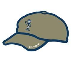 Life is Good Jake Peace Sign Chill Cap / Baseball Hat, Artichoke