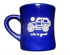 "Life is Good ""Native Offroad"" Coffee Mug - Cobalt Blue"