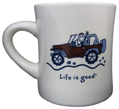 """Life is Good """"Native Offroad"""" Coffee Mug, Off-White"""