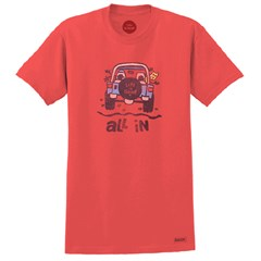 "Life is Good ""All In"" Unisex Short Sleeve Tee on Americana Red"