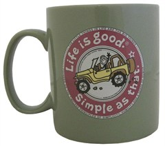 Life is Good Coffee Mug - Simple as That, Moss Color