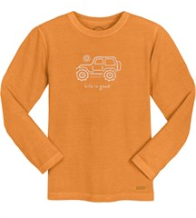 "Life is Good ""Native Offroad"" Men's Long Sleeve Shirt in Orange"