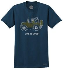 Life is Good Offroad Men's Short Sleeve Tee on Darkest Blue