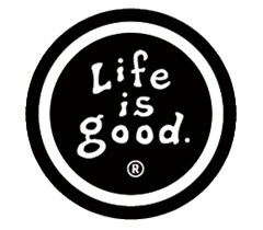 Life is Good Black Coin Sticker, Black