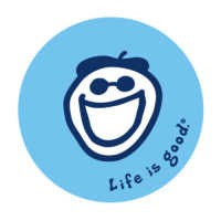 Life is Good Jake Smile Sticker, Blue