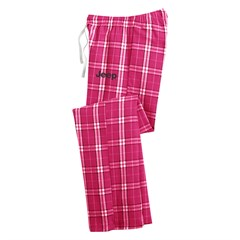 Junior Fit Jeep Pink Flannel Plaid Pant